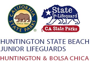 Huntington State Beach Junior Lifeguards Mobile Logo
